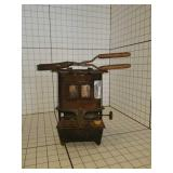 Antique hair crimper and Torch Stand Heater