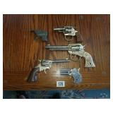Estate Lot of 5 Vintage Cap Guns (TOY)