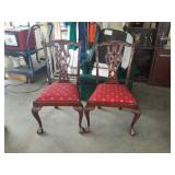 Pair of dining room chairs