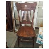 Beautiful tiger oak dining chair