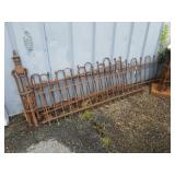 4 panel iron decorative fence with 2 end posts