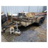 Small 12 ft Double Axle Trailer