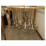 Beautiful Vintage Crystal Prism Chandelier