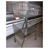 Rolling 2 Tier Metal Basket Display 4