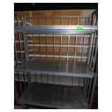 Aluminum 3 Tier Collapsible Cart 63 x 46 x 26