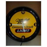 Miller Genuine Draft Light Clock - Works