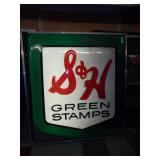 S & H Green Stamp Single Side Sign Works-52x46x6