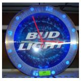 Bud Light Neon Clock - Works - 17.5""
