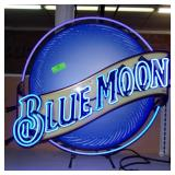 Blue Moon Neon - New in Box- Works-28""