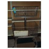 2 Tier Metal Rolling Basket Display- 4