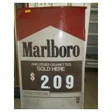 Metal Marlboro Price Sign - 60 x 034