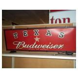Budweiser Texas Star Lightup signs - Works 17x48x8