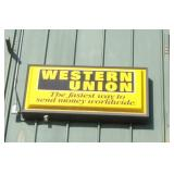 Western Union Sign on Front of Building*