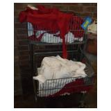 2 Basket Shoppng Cart Full of Butcher Aprons