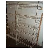"Double 5 Tier Shelving Unit 51"" x 49"