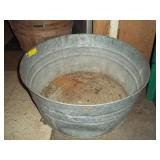Round Galvanized Metal Tub - 12