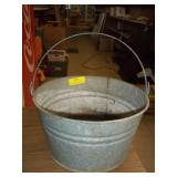 "Galvanized Pail W/ Handle - 9"" x 14"""