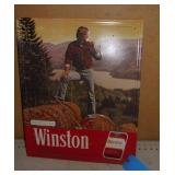 1980 Metal Winston Cigarette Sign 22 x 18