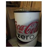 New in Box Rolling Coke Zero Drink Cooler Display