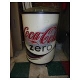 Used Rolling Coke Zero Drink Cooler Display
