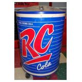 Used Rolling RC Drink Cooler Display