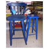 2 Wood Barstools