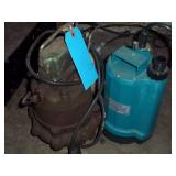 2 Submersible Pumps - Untested