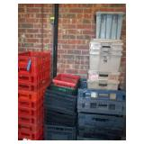Lot of Coke & Bread Crates & Tubs