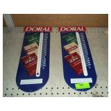 2 Doral Thermometers - 1 Glass is Broken-New Old *