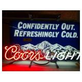 "Coors Light Neon - Works - 26"" x 14"""