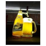 "Miller Genuine Draft Beer Bottle Light 29"" x 14"""