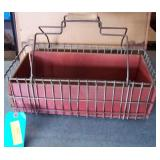 Wire/Wood Basket W/ Handles 6 x 18 x  10