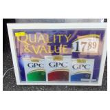 GPC Lighted Advertising Sign 25 x 29 x 22