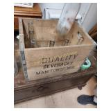 Quality Wood Box  and Bottles