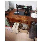 Vintage Singer and Cabinet