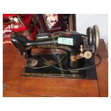 Vintage Singer Sewing Machine on  Cabinet
