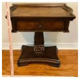 Ornate Side Table with Drawer