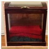 Wood Framed Glass Blanket Box