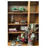 Home Decor and Books on Shelves