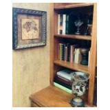 Wall Art, Home Decor and Books on Shelves