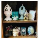 Home Decor Assortment on Shelves