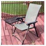 Patio Chair with Side Table