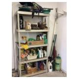 Plastic Shelf with Lawn and Garden Assortment