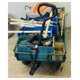 Metal Wagon with Plumbing Assortment