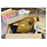 Box with Assortment of Electrical Hardware and Craft Supplies