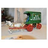 Cast Iron, Repro Mail Wagon,