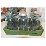 Blue Canning Jars, 1/2 Gal.