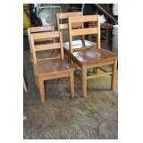 Toddler Chairs, Oak, 2 different