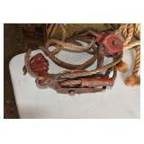Vintage Steel, Block & Tackle Set up,