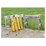 Sawhorses, Stock Roller , Metal folding- 3